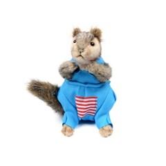 7525 옷입은 다람쥐인형(회색) 25cm.L_(1386710)