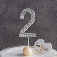 생일 케이크 큐빅 데코픽 숫자