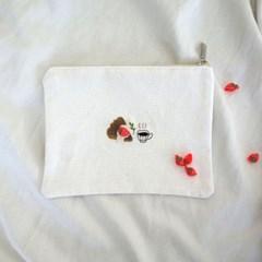 오동통 딸기 타르트 자수 파우치 DIY KIT