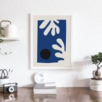 블루리프 앙리마티스 그림 액자 드로잉 인테리어 포스터