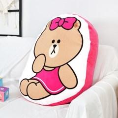 라인프렌즈 캐릭터 극세사 모찌 초코 헬로 모양쿠션_(1100206)