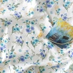 [Fabric] 수레국화 린넨 Centaurea Cyanus Linen