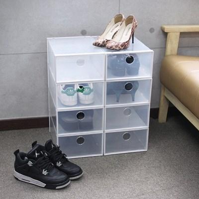 신발 수납박스 인테리어 보관 투명 슈즈정리함 10P_(1053408)