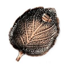 PJ190109-4 홍동 나뭇잎 위 무당벌레 찻잔 받침