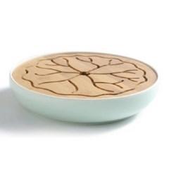 zdcj1013-2 도자기 대나무 하엽 차판