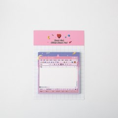 Word Pink Sticky Memo Pad