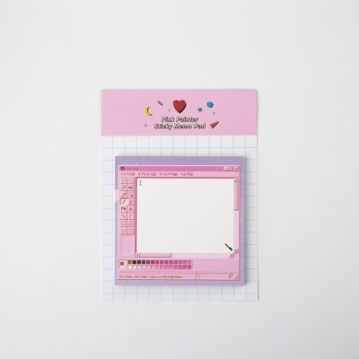 Pink Painter Sticky Memo Pad