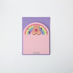 Rainbow Bear Sticky Memo Pad