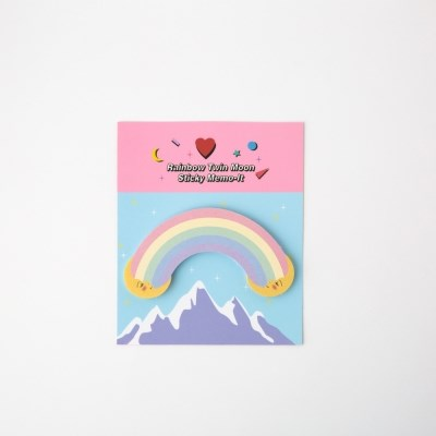 Rainbow Twin Moon Sticky Memo-It