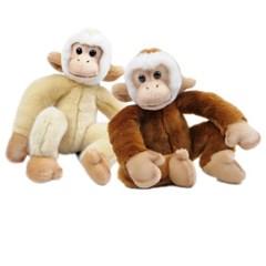 5645/5647 원숭이 동물인형세트(베이지,갈색) 28cm.H_(1388016)