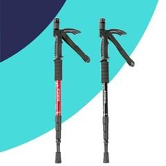 카라라 가볍고 튼튼한 T자형 등산 스틱(LED램프/나침반내장)