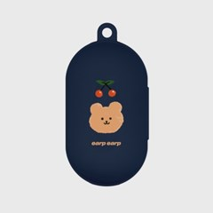 Dot cherry bear-navy(buds jelly case)_(1220751)