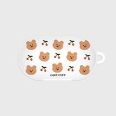 Dot cherry bear-white(buds hard case)_(1220726)