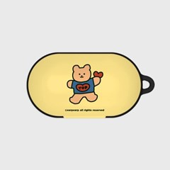 Bear heart-creamyellow(buds hard case)_(1220722)