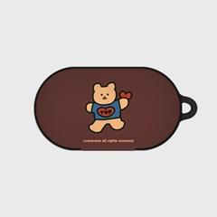 Bear heart-brown(buds hard case)_(1220721)