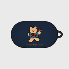 Bear heart-navy(buds hard case)_(1220720)