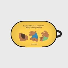 Rolling bear-yellow(buds hard case)_(1220706)