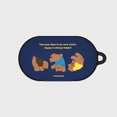 Rolling bear-navy(buds hard case)_(1220705)