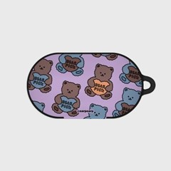 Bear pick-purple(buds hard case)_(1220700)