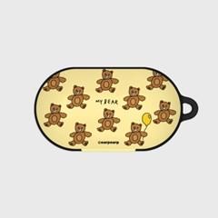 Teddy bear-creamyellow(buds hard case)_(1220699)