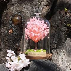카네이션 프리저브드 유리돔 드라이플라워 꽃다발_(1839201)