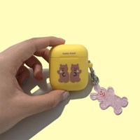 [뮤즈무드] twin bear airpods case (에어팟케이스)