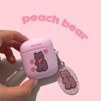 [뮤즈무드] peach bear airpods case (에어팟케이스)