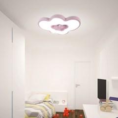 구름 별 led 어린이 핑크 방등