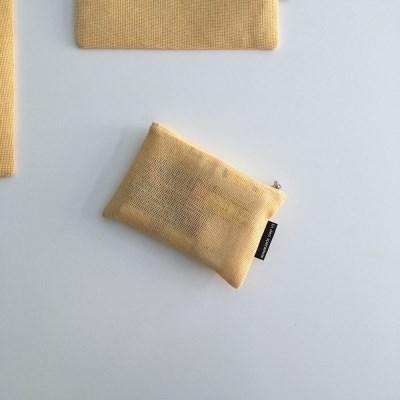 옐로우 에코 메쉬 파우치(Yellow eco mesh pouch)