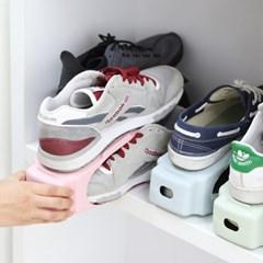 좁은현관 공간활용 신발 수납정리 홀더 파스텔 슈즈랙_(1057870)