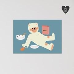(유기견후원)독맨 엽서-overeating