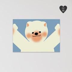 (유기견후원)독맨 엽서-hug me