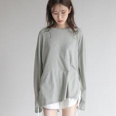 [치즈달] 멜란지 박시 티셔츠