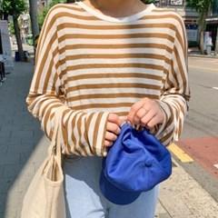 루즈 린넨 스트라이프 티셔츠(린넨60%)_(1424280)