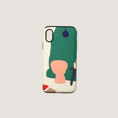 (터프/카드수납) Greenery phone case