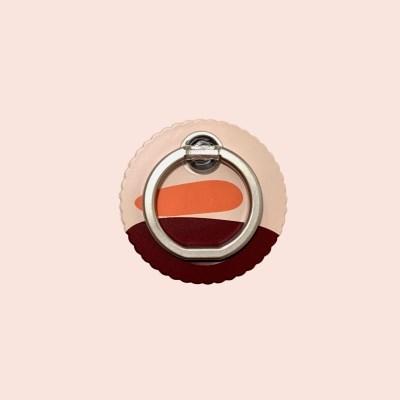 Red sunrise smart ring