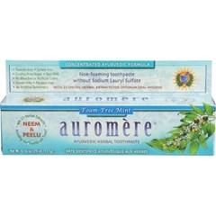 [세븐허브] Auromere 폼프리 치약 + 백단울금향비누