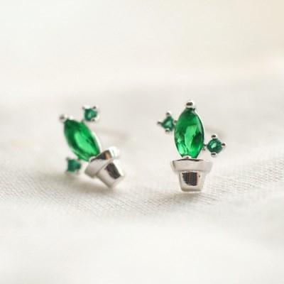 Mini Cactus earring