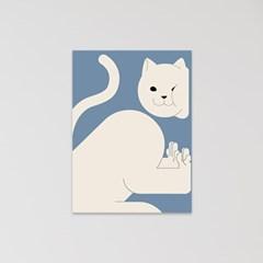 고양이 엽서 (pushing)