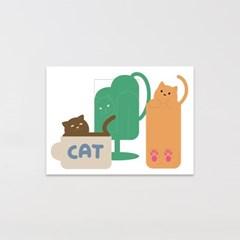 고양이 엽서 (cup cat)
