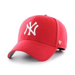 47브랜드 MLB모자 뉴욕 양키즈 레드 화이트빅로고 스트럭처