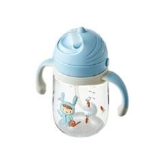 락앤락 회전식 뚜껑 유아용 빨대물병 240ml (블루)