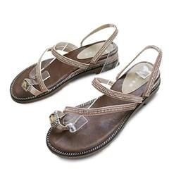 kami et muse Cubic strap flip flop slipper sandals_KM19s337