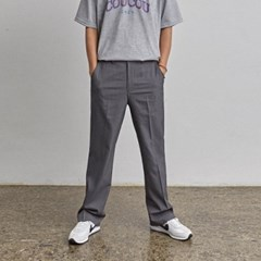 STAND WIDE-PIT SLACKS_CHARCOAL