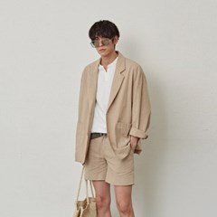 SOLID TAILORED JACKET_BEIGE