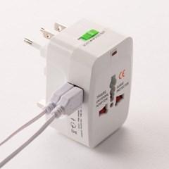 플라이토 해외 여행용 USB 멀티아답터 2포트