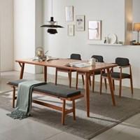 리치 식탁테이블 2000(의자3개 벤치1개포함
