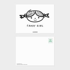 [카멜앤오아시스] Candy Girl 꼬마숙녀 일러스트 엽서