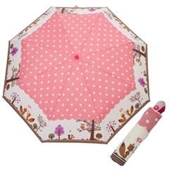 A0498 부엉이 핑크 3단자동우산