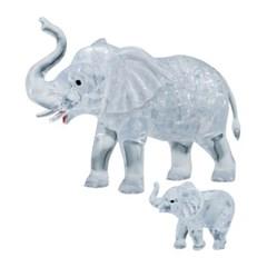 46피스 크리스탈퍼즐 - 코끼리 가족